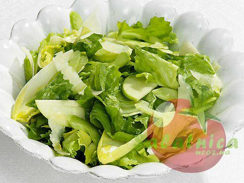 Рецепт зеленого салата с фото